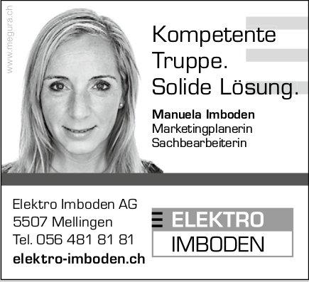 Elektro Imboden, Manuela Imboden