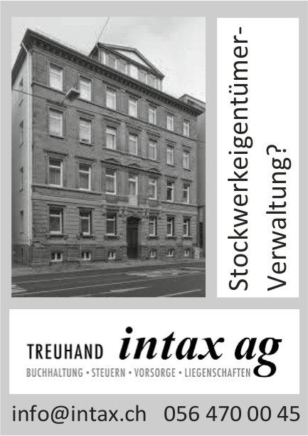 Stockwerkeigentümer-Verwaltung? Treuhand intax ag