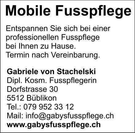 Mobile Fusspflege, Gabriele von Stachelski