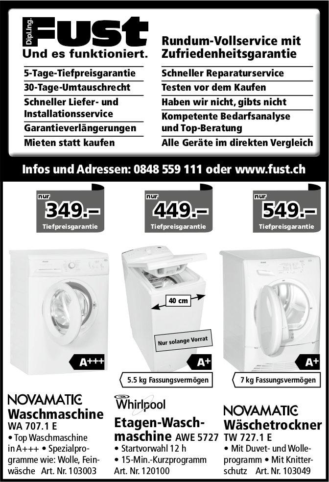 Waschmaschine / Etagen-Waschmaschine / Wäschetrockner, Fust