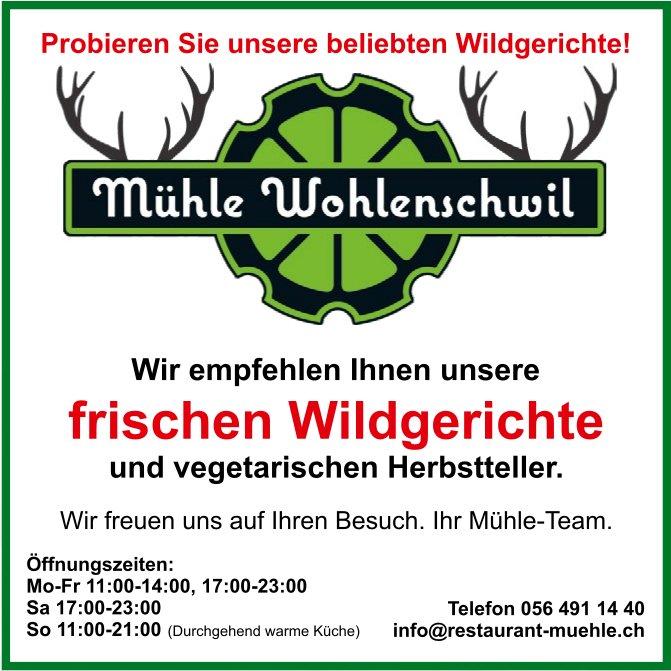 Frische Wildgerichte und vegetarische Herbstteller, Restaurant Mühle