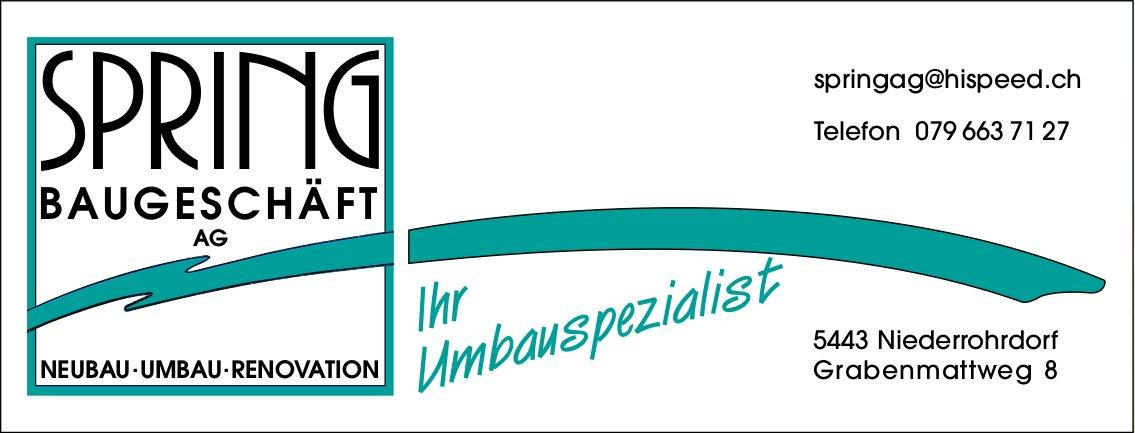 Ihr Umbauspezialist, Spring Baugeschäft AG