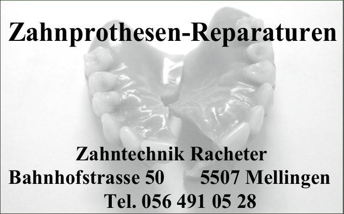 Zahnprothesen-Reparaturen, Zahntechnik Racheter