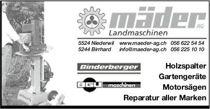 Mäder AG Landmaschinen, Reparatur aller Marken