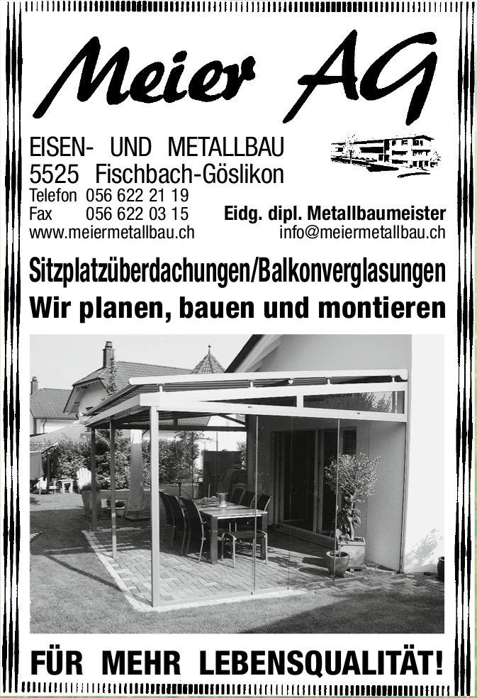 Sitzplatzüberdachungen/Balkonverglasungen, Meier AG