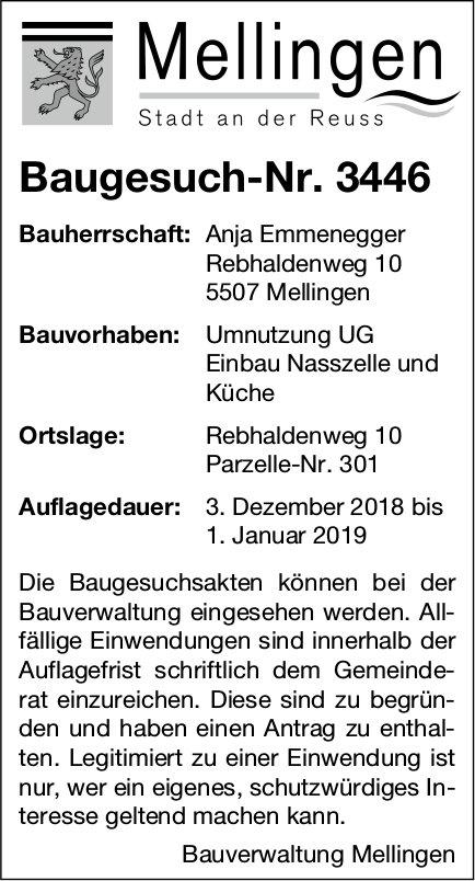 Mellingen: Baugesuch-Nr. 3446