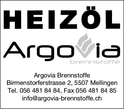 Heizöl, Argovia Brennstoffe