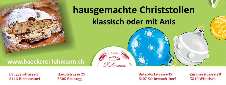 Hausgemachte Christstollen, Bäckerei Lehmann