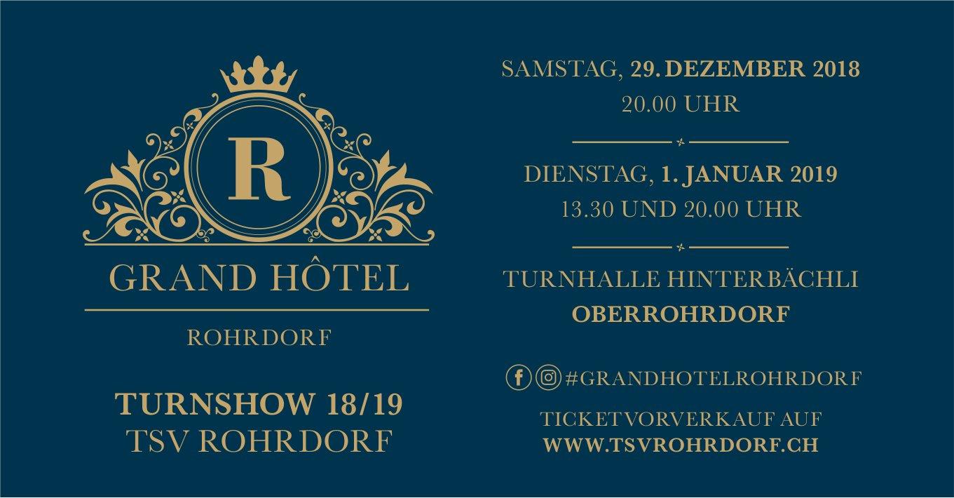 Turnshow 18/19 TSV Rohrdorf, 29. Dez. & 1. Jan., Turnhalle Hinterbächli