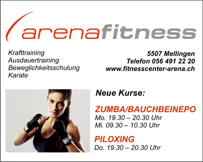 Neue Kurse, Fitnesscenter Arena