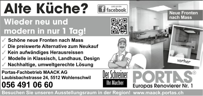 Alte Küche? Portas-Fachbetrieb MAACK AG