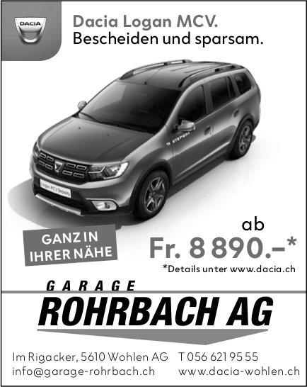 Dacia Logan MCV, Garage Rohrbach AG