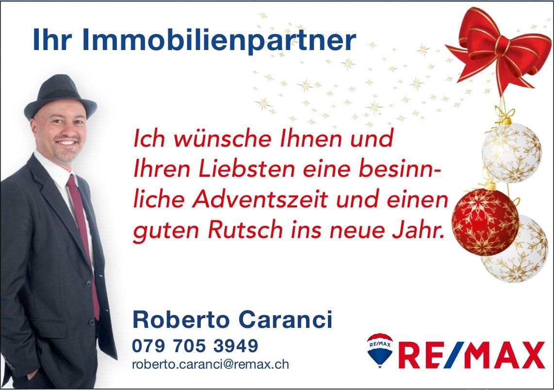 Ich wünsche Ihnen und Ihren Liebsten eine besinnliche Adventszeit, Roberto Caranci