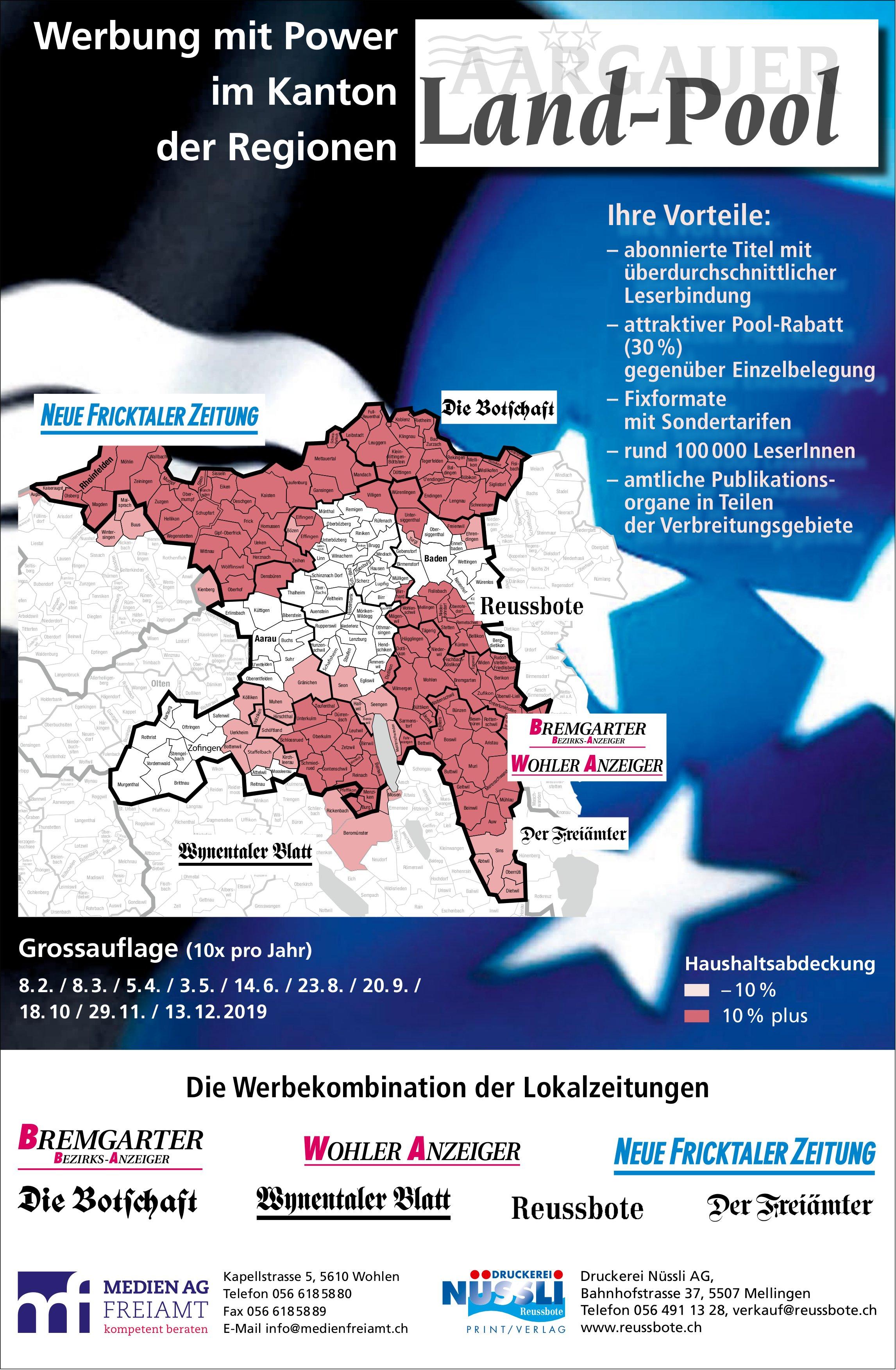 Werbung mit Power im Kanton der Regionen: Aargauer Land-Pool