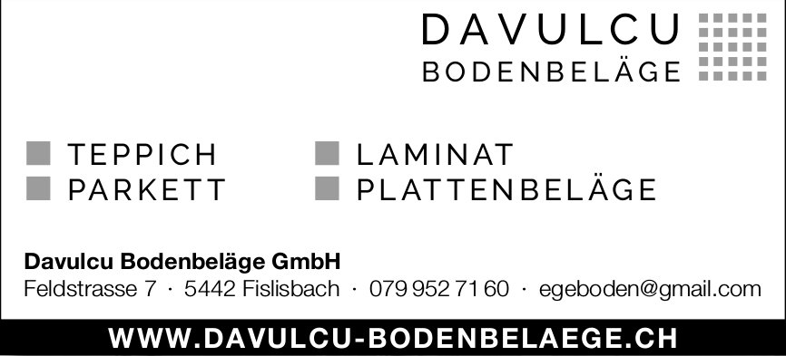 Teppich / Parkett etc., Davulcu Bodenbeläge GmbH