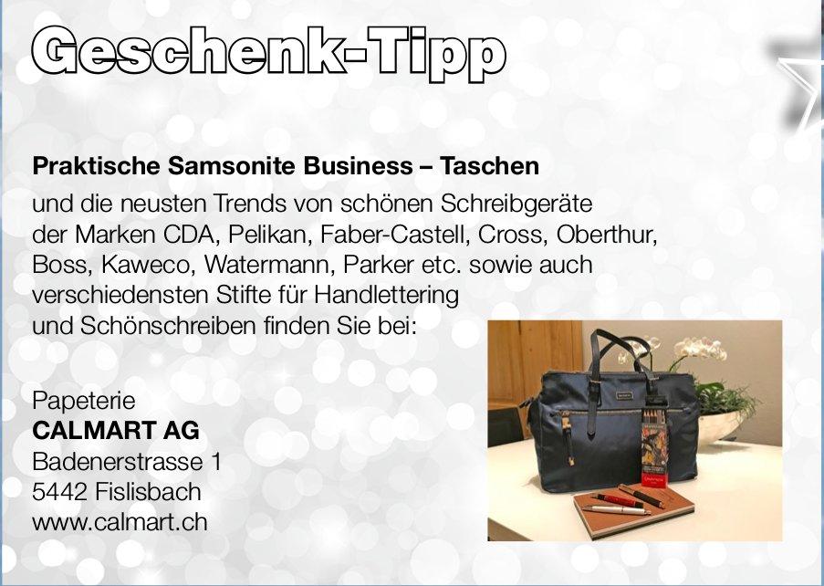 Geschenk-Tipp, Papeterie CALMART AG
