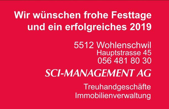 Wir wünschen frohe Festtage und ein erfolgreiches 2019, SCI-MANAGEMENT AG