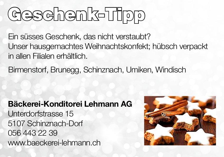 Geschenk-Tipp, Bäckerei-Konditorei Lehmann AG
