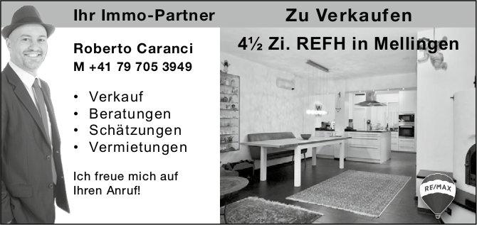 4½ Zi. REFH, Mellingen, zu verkaufen