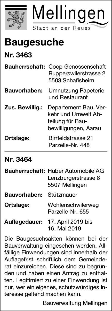 Mellingen - Baugesuche