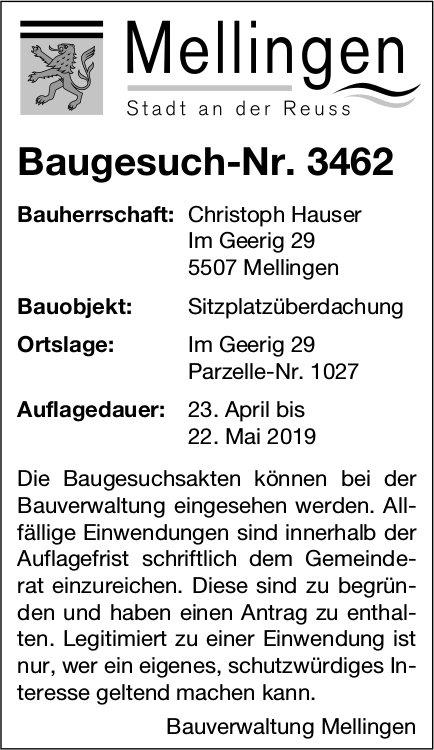 Mellingen - Baugesuch-Nr. 3462