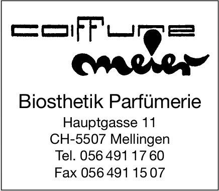 Coiffure Meier - Biosthetik Parfümerie
