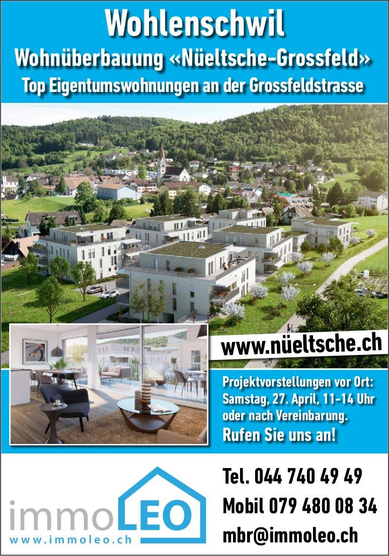Wohnüberbauung «Nüeltsche-Grossfeld», Top Eigentumswhg. in Wohlenschwil - Projektvorstellungen 27.4.