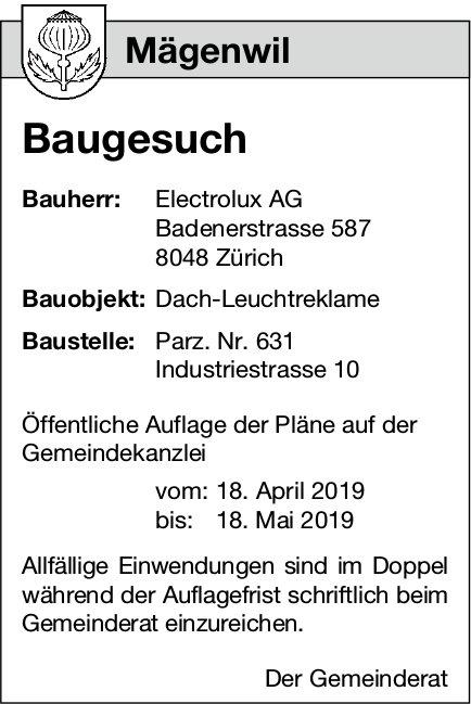 Mägenwil - Baugesuch