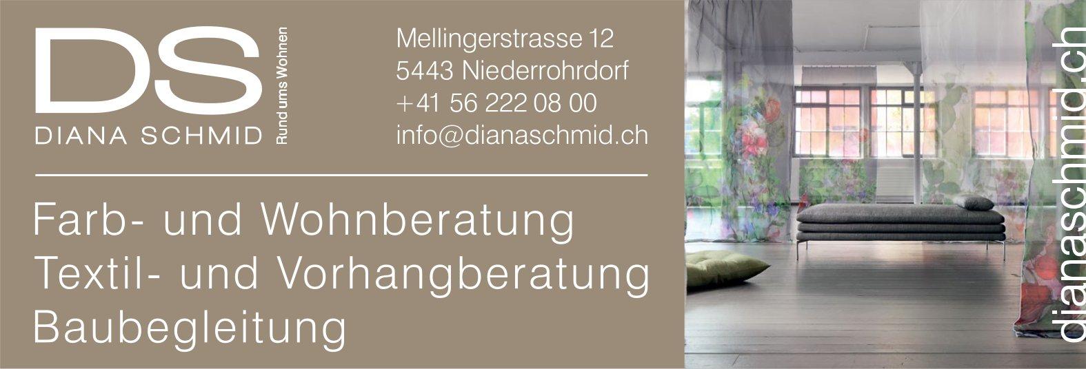 DIANA SCHMID - Farb- und Wohnberatung, Textil- und Vorhangberatung, Baubegleitung