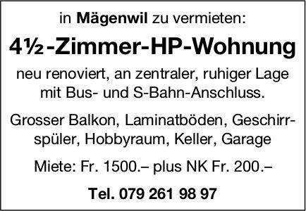 4½-Zimmer-HP-Wohnung in Mägenwil zu vermieten