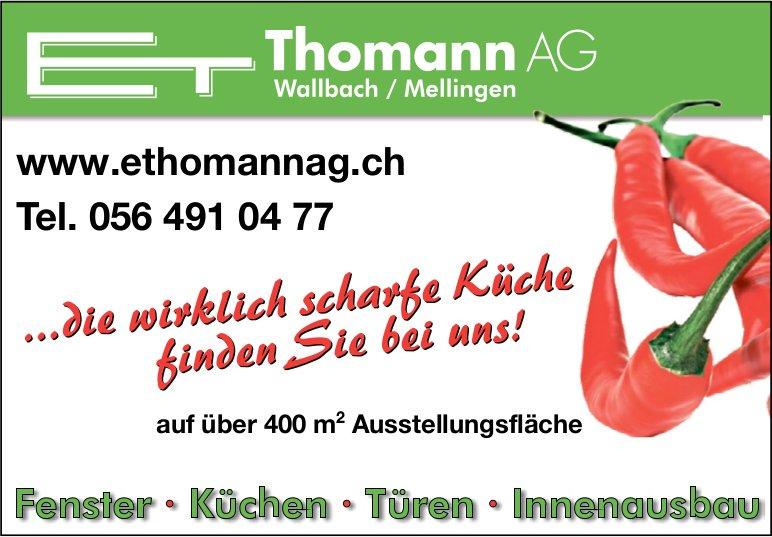 E. Thomann AG - ...die wirklich scharfe Küche finden Sie bei uns!
