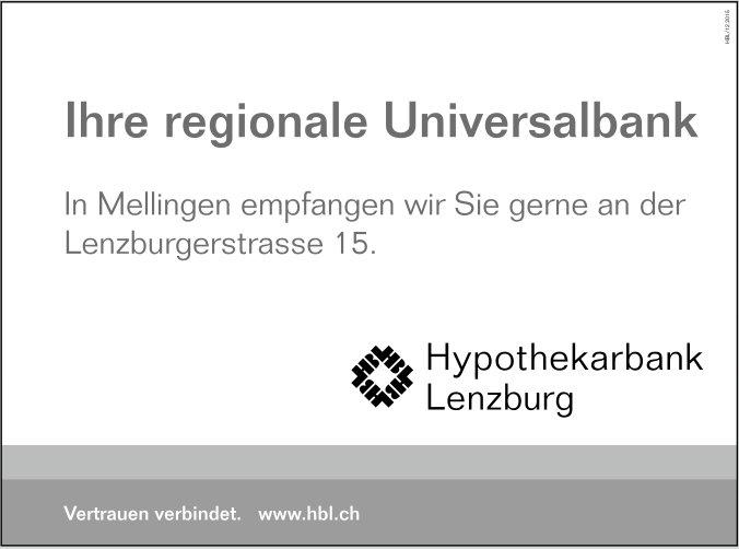 Hypothekarbank Lenzburg - Ihre regionale Universalbank