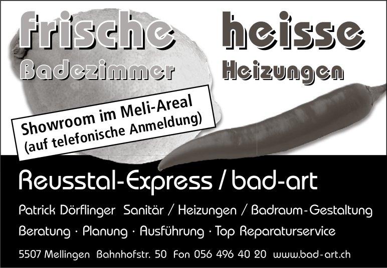 Reusstal-Exrpress / bad-art - Frische Badezimmer, heisse Heizungen