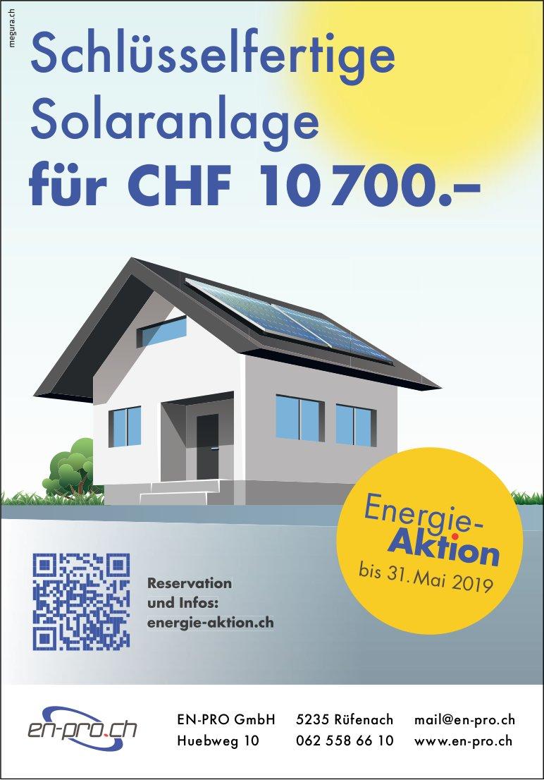 EN-PRO GmbH - Schlüsselfertige Solaranlage für CHF 10 700.–