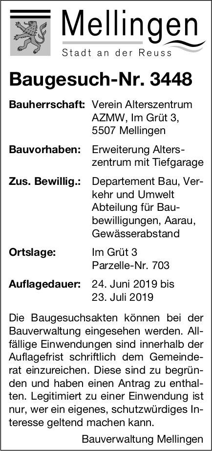 Mellingen - Baugesuch-Nr. 3448