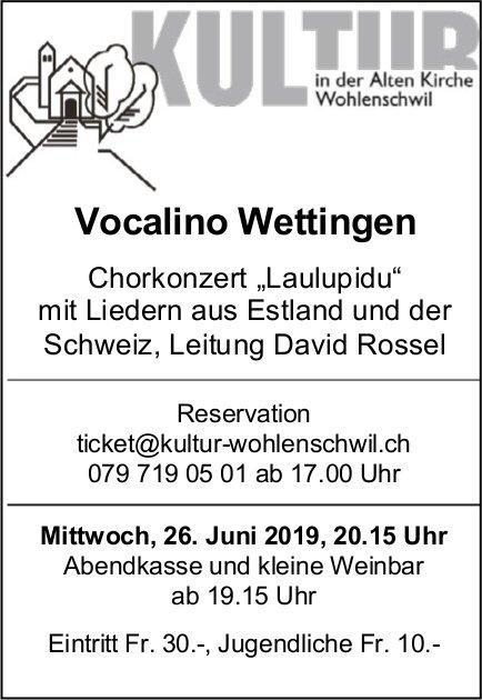 "Vocalino Wettingen - Chorkonzert ""Laulupidu"" am 26. Juni"
