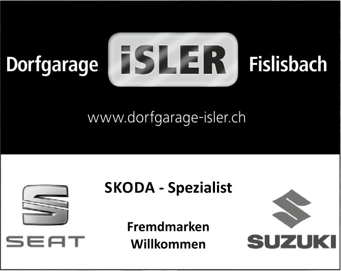 Dorfgarage ISLER, Fislisbach - SEAT/SUZUKI, SKODA - Spezialist