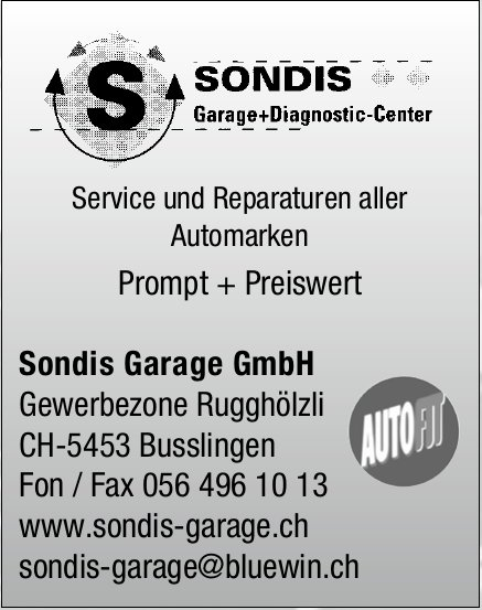 Sondis Garage GmbH - Service und Reparaturen aller Automarken