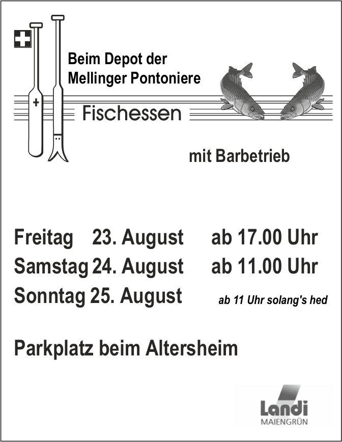 Fischessen beim Depot der Mellinger Pontoniere, 23./24./25. August