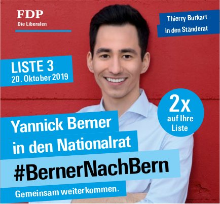 FDP - Yannick Berner in den Nationalrat