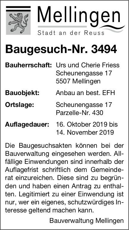 Mellingen - Baugesuch-Nr. 3494