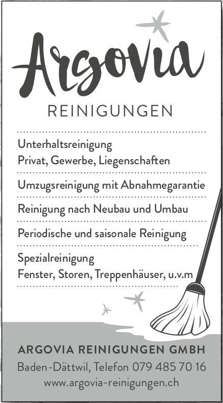 ARGOVIA REINIGUNGEN GMBH - Unterhaltsreinigung Privat, Gewerbe, Liegenschaften usw.