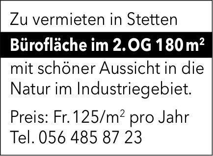 Bürofläche im 2. OG 180 m2 in Stetten zu vermieten
