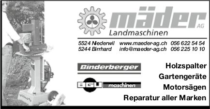 Mäder AG Landmaschinen - Reparatur aller Marken