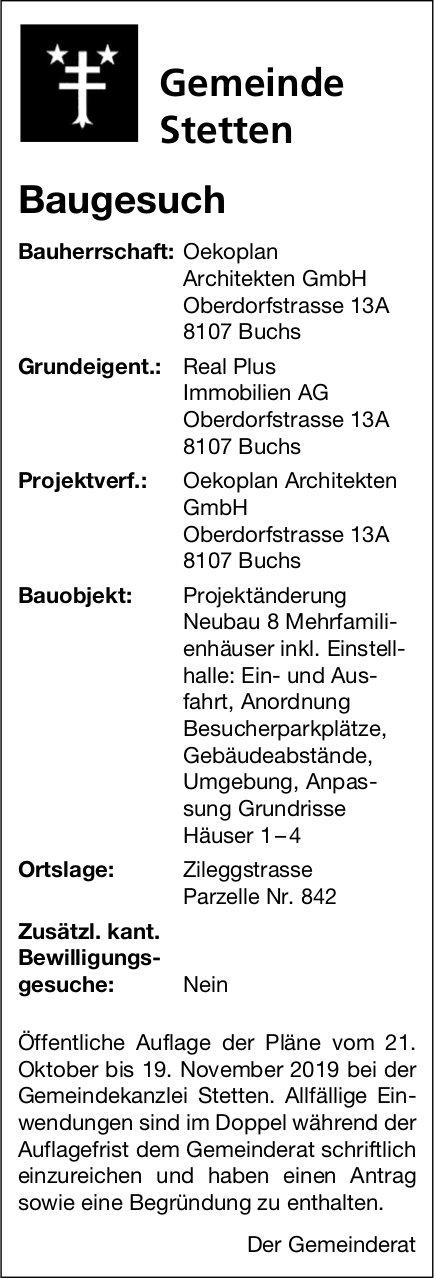Stetten - Baugesuch
