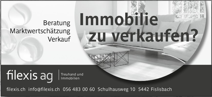 Filexis AG - Immobilie zu verkaufen?