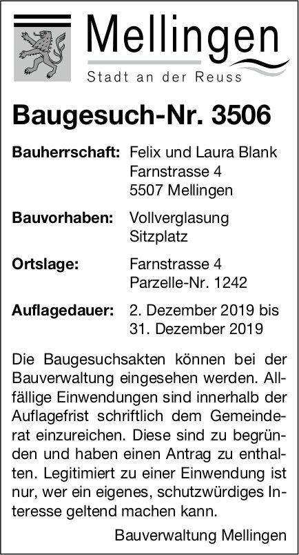 Mellingen - Baugesuch-Nr. 3506
