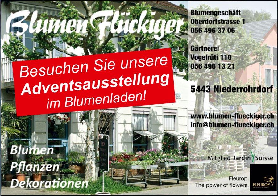 Blumen Flückiger - Besuchen Sie unsere Adbentsausstellung im Blumenladen!