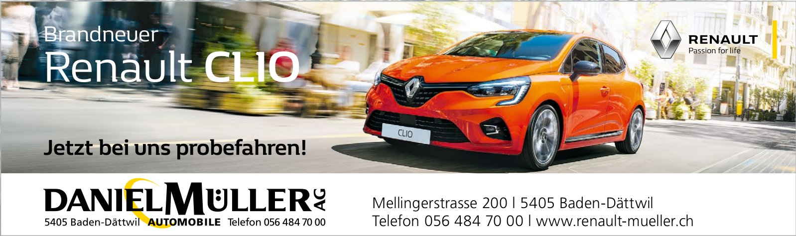 Daniel Müller AG - Brandneuer Renault CLIO: Jetzt bei uns probefahren!
