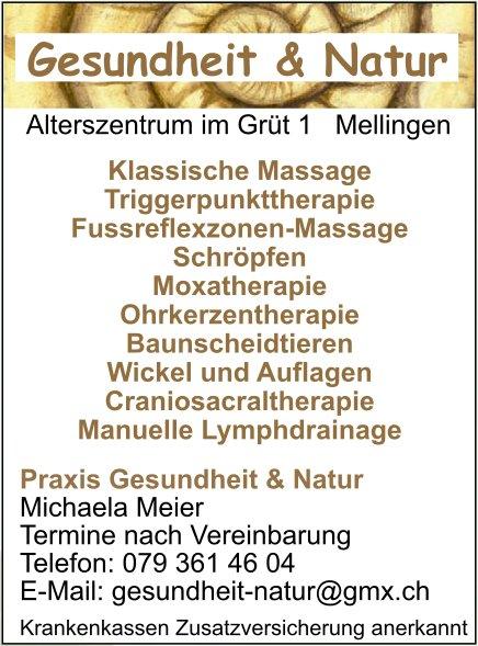 Praxis Gesundheit & Natur - Klassische Massage Triggerpunkttherapie Fussreflexzonen-Massage uvm.